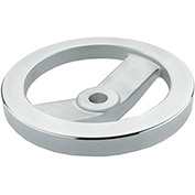 "JW Winco - 8ME30/A - Aluminum 2 Spoked Handwheel w/o Handle - 4.92"" Dia x 8mm Bore"