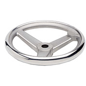 "JW Winco - 950.6-100-B1/2-A - Stainless Steel Spoked Handwheel w/o Handle - 3.94"" D x .500"" Bore"