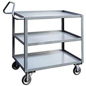 Jamco 3 Shelf Ergonomic Service Cart ET236 1200 Lb. Capacity 24 x 36