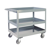 "Jamco 3"" Lip Three Shelf Service Cart LN136 1200 Lb. Capacity 18 x 36"