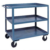 Jamco 3 Shelf Service Cart SC472 1200 Lb. Capacity 36 x 72