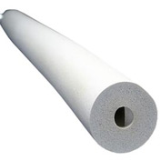 "Insul-Tube® 6'L, 1"" Wall Thickness, 3-5/8"" Nom. I.D - White - Pkg Qty 5"