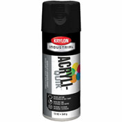 Krylon (5-Ball) Interior-Exterior Paint Semi-Flat Black - K01613 - Pkg Qty 6