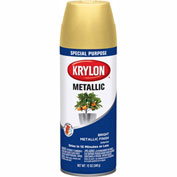 Krylon Metallic Paint Bright Gold - K01701 - Pkg Qty 6