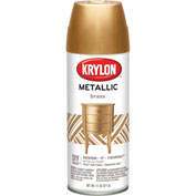 Krylon Metallic Paint Brass Metallic - K02204 - Pkg Qty 6