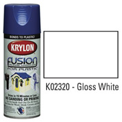 Krylon Fusion For Plastic Paint Gloss White - K02320001 - Pkg Qty 6