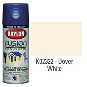 Krylon Fusion For Plastic Paint Gloss Dover White - K02322 - Pkg Qty 6