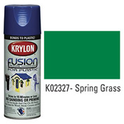 Krylon Fusion For Plastic Paint Gloss Spring Grass (Safety Green) - K02327001 - Pkg Qty 6