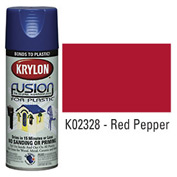Krylon Fusion For Plastic Paint Gloss Red Pepper (Safety Red) - K02328 - Pkg Qty 6