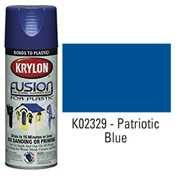 Krylon Fusion For Plastic Paint Gloss Patriotic Blue (Safety Blue) - K02329 - Pkg Qty 6