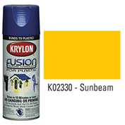 Krylon Fusion For Plastic Paint Gloss Sunbeam (Safety Yellow) - K02330001 - Pkg Qty 6