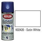 Krylon Fusion For Plastic Paint Satin White - K02420007 - Pkg Qty 6