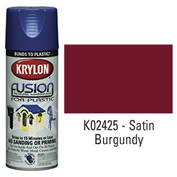 Krylon Fusion For Plastic Paint Satin Burgundy - K02425007 - Pkg Qty 6