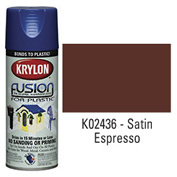 Krylon Fusion For Plastic Paint Satin Espresso - K02436 - Pkg Qty 6