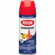 Krylon Fluorescent Indoor/Outdoor Paint Cerise - K03105007 - Pkg Qty 6