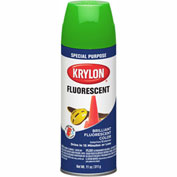 Krylon Fluorescent Indoor/Outdoor Paint Green - K03106 - Pkg Qty 6
