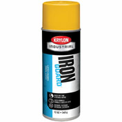 Krylon Industrial Iron Guard Latex Spray Paint Osha Yellow - K07904 - Pkg Qty 12