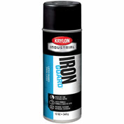 Krylon Industrial Iron Guard Latex Spray Paint Satin Black - K07913 - Pkg Qty 12