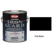 Krylon Industrial Iron Guard Acrylic Enamel Flat Black - K11001201 - Pkg Qty 4