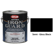 Krylon Industrial Iron Guard Acrylic Enamel Semi-Gloss Black - K11007751 - Pkg Qty 4