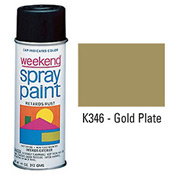 Krylon Industrial Weekend Economy Paint Gold Plate - K346 - Pkg Qty 6