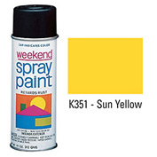 Krylon Industrial Weekend Economy Paint Sun Yellow - K351 - Pkg Qty 6