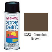 Krylon Industrial Weekend Economy Paint Chocolate Brown - K353 - Pkg Qty 6