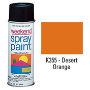 Krylon Industrial Weekend Economy Paint Desert Orange - K355 - Pkg Qty 6
