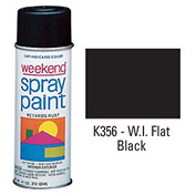 Krylon Industrial Weekend Economy Paint Wi Flat Black - K356 - Pkg Qty 6