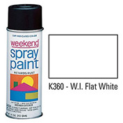 Krylon Industrial Weekend Economy Paint Wi Flat White - K360 - Pkg Qty 6