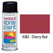 Krylon Industrial Weekend Economy Paint Cherry Red - K362 - Pkg Qty 6