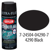 Krylon Camouflage With Fusion For Plastic Paint Black - K04290007 - Pkg Qty 6