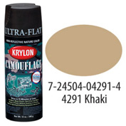 Krylon Camouflage With Fusion For Plastic Paint Khaki - K04291000 - Pkg Qty 6