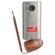 "Tempro Industrial 60"" Remote Bulb Line Voltage Thermostat TP505, Refrigeration, SPST, Single Stage"