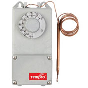 "Tempro Industrial 60"" Remote Bulb Line Voltage Temperature Controller TP519, Heat/Cool, Nema 4X"