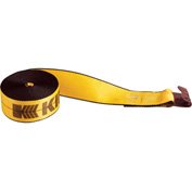 "Kinedyne Winch Strap 422721 with Flat Hook - 27' x 4"" Gold"