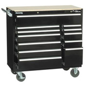 "Kennedy® 39"" 12-Drawer Roller Cabinet - Black"