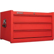 """Kennedy 173CRW K1800 Series 27"""" Commercial 3-Drawer Tool Chest Red Wrinkle"""