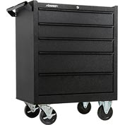 "Kennedy® 175CBKW K1800 Series 27"" Commercial 5-Drawer Roller Cabinet - Black Wrinkle"