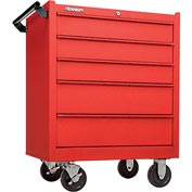 "Kennedy® 175CRW K1800 Series 27"" Commercial 5-Drawer Roller Cabinet - Red Wrinkle"