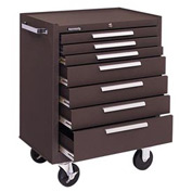 "Kennedy® 277B 27"" 7-Drawer Roller Cabinet w/ Friction Slides - Brown"