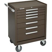 "Kennedy® 277XB 27"" 7-Drawer Roller Cabinet w/ Ball Bearing Slides - Brown"