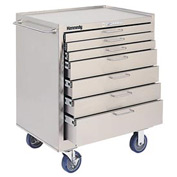 Kennedy® 28197 7-Drawer Stainless Steel Roller Cabinet - Class 10 Cleanroom