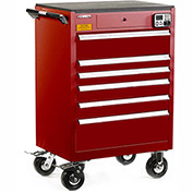 "Kennedy eKentrol Mobile Modular Drawer Cabinet 29026EKR - 6 Drawer 29""x20""x36"" Red"