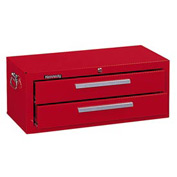 "Kennedy® 2902R 29"" 2-Drawer Add-On Base w/ Friction Slides - Red"