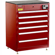 "Kennedy eKentrol Modular Drawer Cab w/Ind Drw Lock 29116EKR - 6 Drawer 29""x20""x36"" Red"