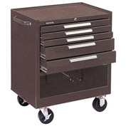 "Kennedy® 295B 29"" 5-Drawer Roller Cabinet w/ Friction Slides - Brown"