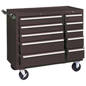 "Kennedy® 310XB 39"" 10-Drawer Roller Cabinet - Brown"