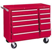 "Kennedy® 310XR 39"" 10-Drawer Roller Cabinet - Red"