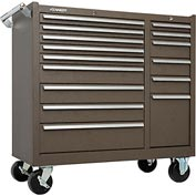 "Kennedy® 315XB 39"" 15-Drawer Roller Cabinet - Brown"